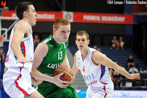Lithuania comes from behind to stop Serbia in U18 EC Semi