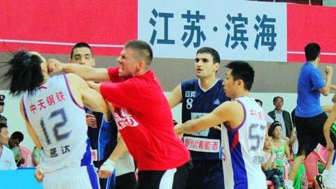 Basketball brawl in China