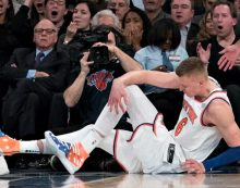 Kristaps Porzingis out for season with torn ACL
