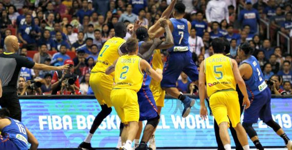 Brawl Mars AUS-PHI Game At FIBA World Cup Qualifiers