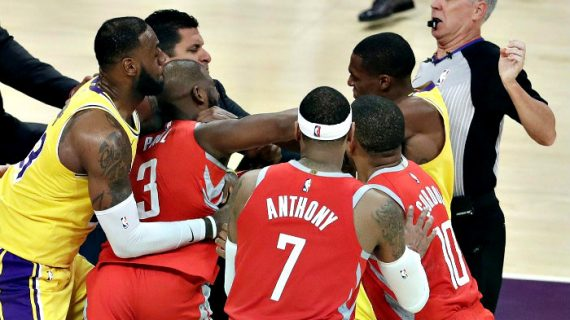 NBA Hands Out Suspensions Post-Lakers-Rockets Brawl