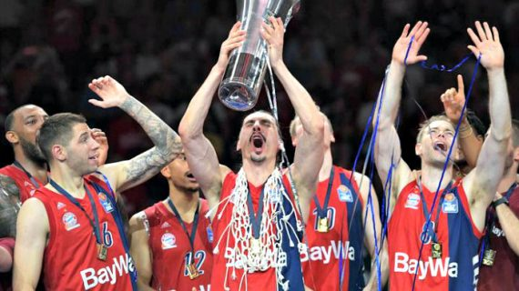 Bayern Munich celebrates 2019 German League title