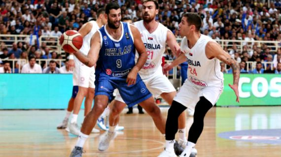 Serbia tops Greece in FIBA World Cup prep game