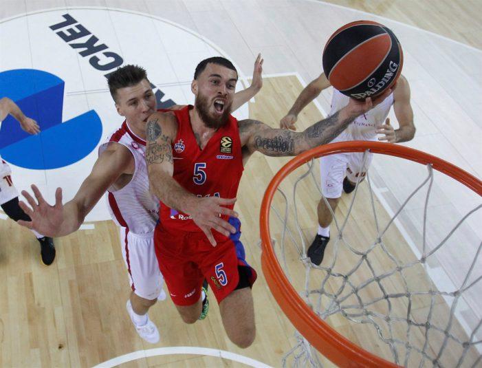 CSKA tops Armani Exchange Milano 78-76 in EuroLeague