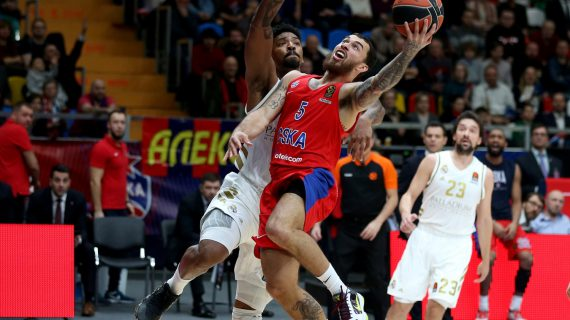 CSKA Moscow ends Real Madrid 13-game undefeated streak in the EuroLeague