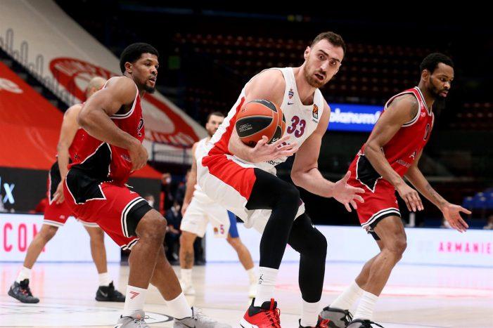 CSKA Moscow defeats Armani Milano in OT for its 12th straight EuroLeague win