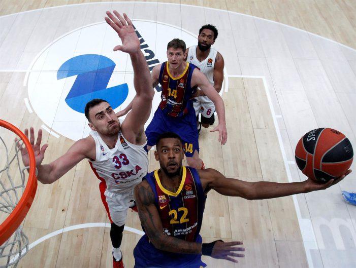 Barcelona rallies past CSKA Moscow to sweep EuroLeague season series