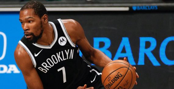 Nets' forward Kevin Durant to miss four games due to exposure to COVID-19