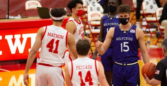 First mask-wearing game in college basketball