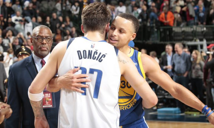 Luka Doncic and Stephen Curry combine for 99 points in superstar duel