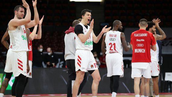 Bayern Munich snaps Anadolu Efes' eight-game EuroLeague winning streak to force a three-team tie
