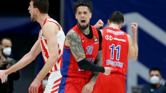 CSKA Moscow comes one step away from the EuroLeague playoffs