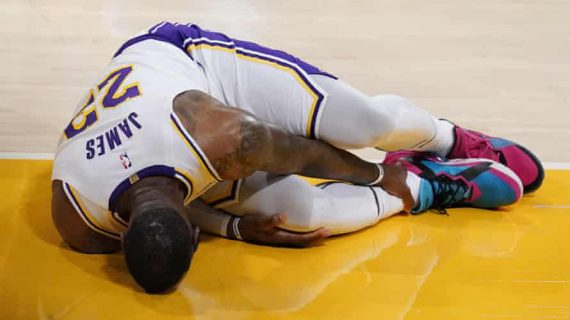 LeBron James injured. Out indefinitely