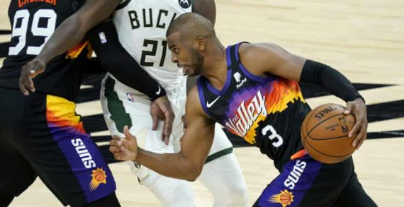 The Phoenix Suns with Game 1 of the 2021 NBA Finals