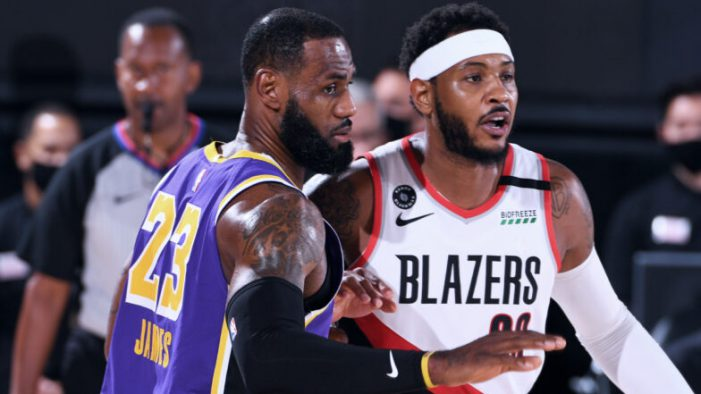 Carmelo Anthony teams up with LeBron James and the Lakers