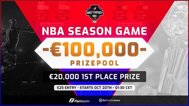 Introducing Fantasy NBA on FanTeam – €100,000 prize pool