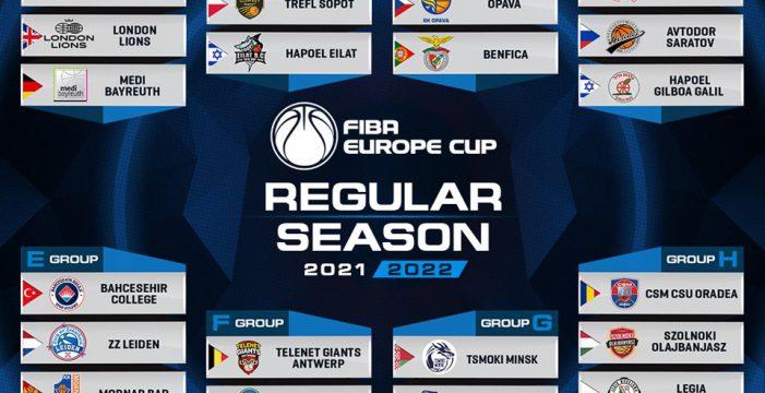 FIBA Europe Cup Regular Season lineup confirmed
