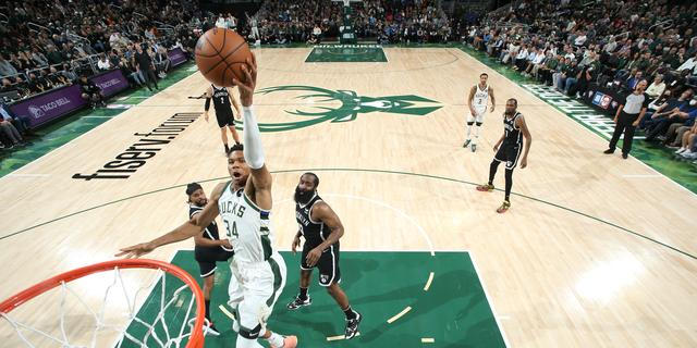 Dominant Giannis Antetokounmpo leads Bucks over Nets on NBA opening night